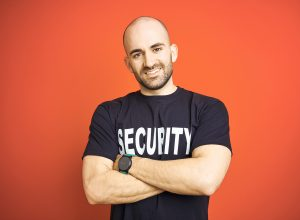Bild eines Security-Mitarbeiters